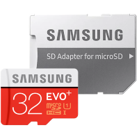 Карта памяти Samsung EVO Plus microSDHC Memory Card 32Gb Class10 UHS-I U1 + SD Adapter